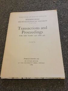 Birmingham-Archaeological-Society-Transactions-And-Proceedings-For-The-Years-196