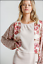 UMGEE-S-Floral-Mixed-Printed-Long-Puff-Sleeve-Waffle-Knit-Top-With-Raw-Round-Hem thumbnail 1