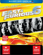 FAST & FURIOUS 6 (Blu-ray/DVD, Future Shop Steelbook, Canadian) New / Sealed
