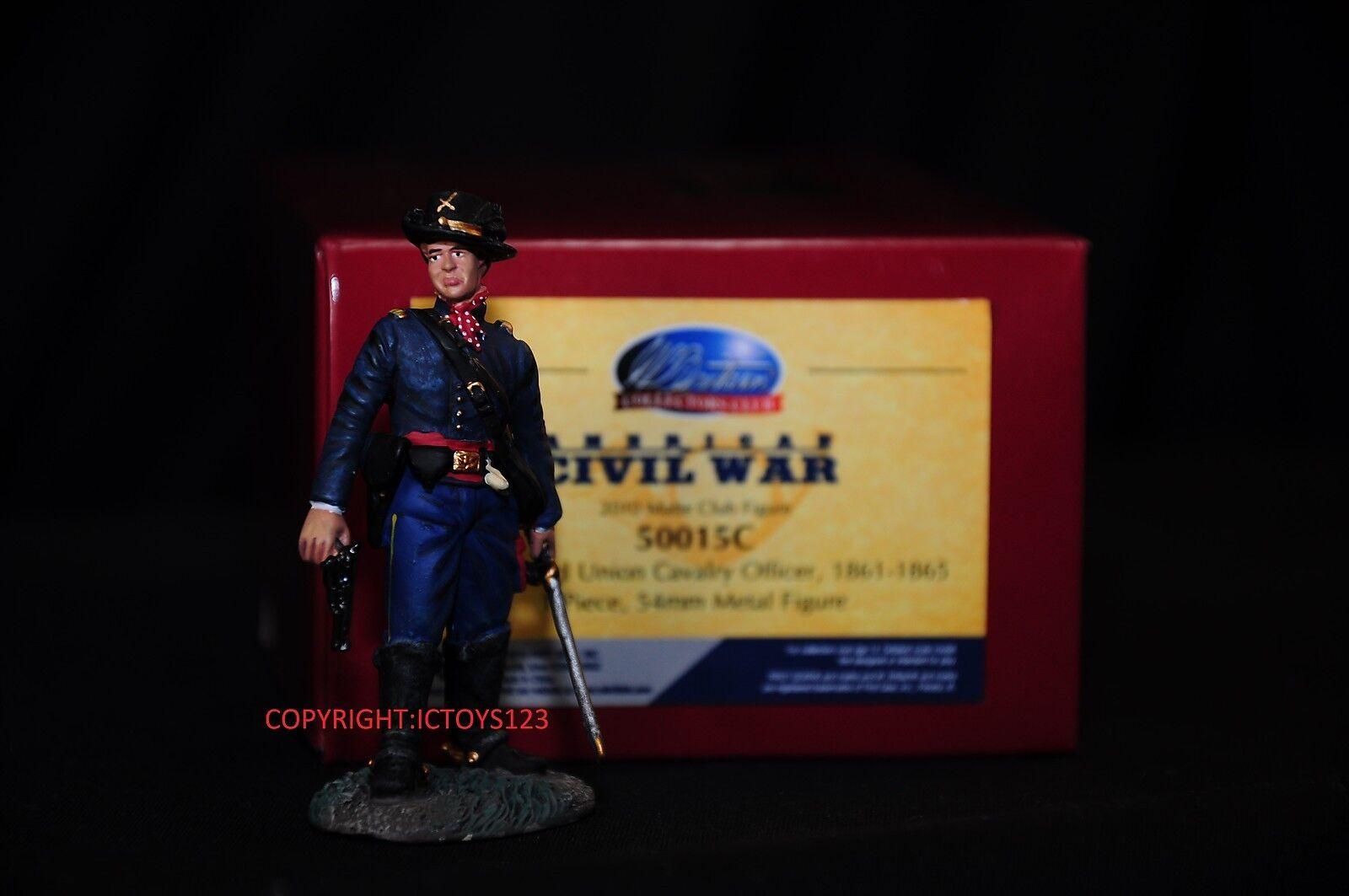 BRITAINS 50015c AMERICAN CIVIL CIVIL CIVIL WAR UNION cavalerie officier toy soldier figure 591615