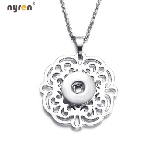 10pcs Multi Styles Snap Pendant Necklace Fit 18mm Snap Button 20mm Snap Jewelry