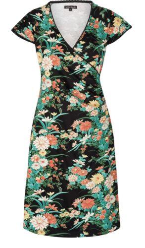 Schwarz Blumen 02618 Dress Louie Cross Grün King Kleid Belleflower Flower Black qPzFWXOxw