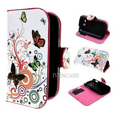 Wallet Flower 22 Flip Case Cover For Samsung Galaxy Fame Lite S6790 + 2 Gift