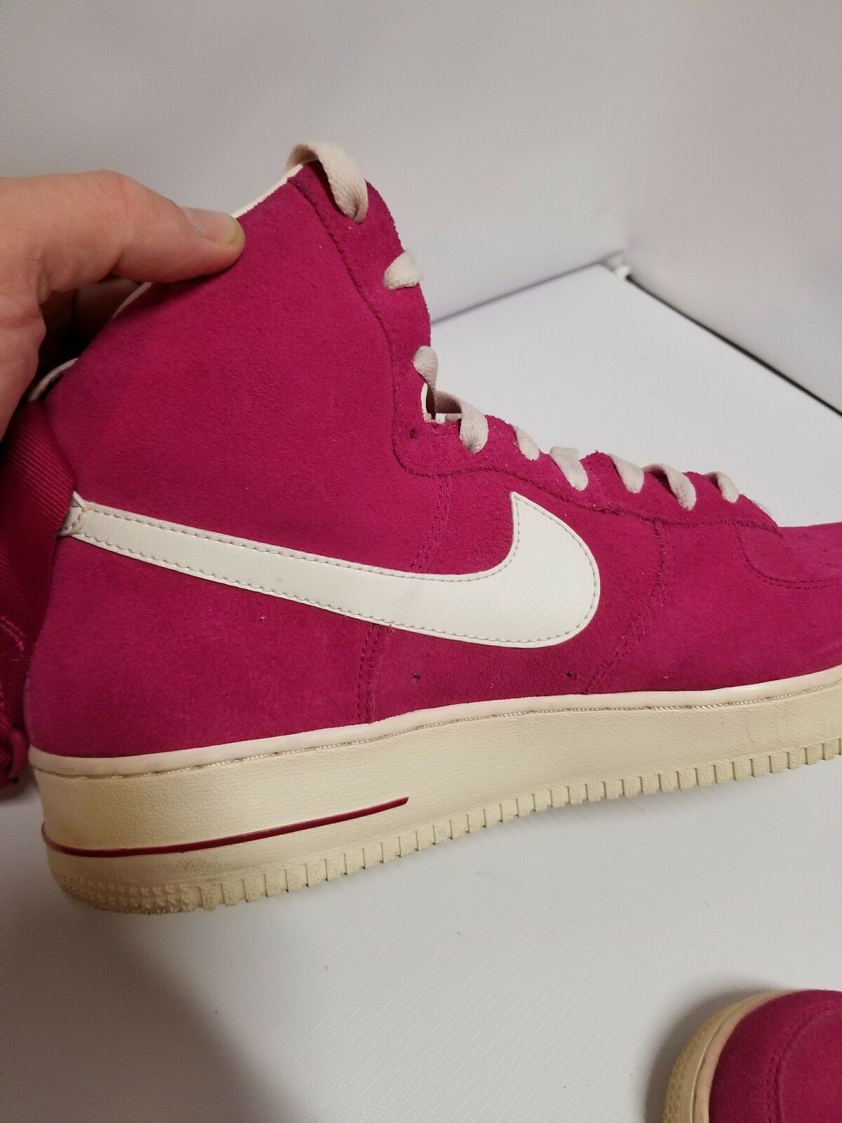 Rare Nike Air Force 1 High 07 Blazer 315121-602 Fuchsia Pink Size 10.5 suede