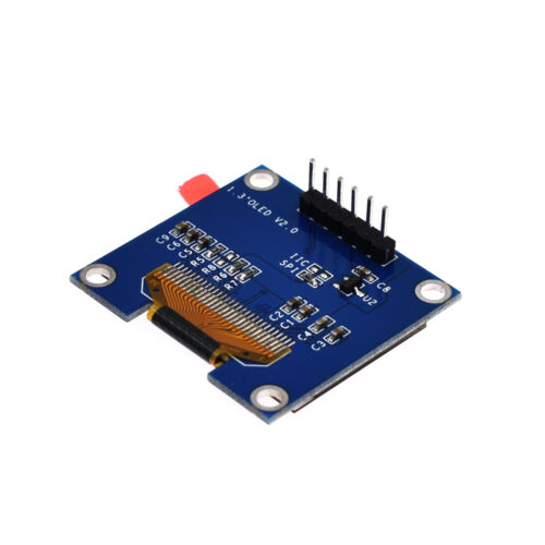 """1.3/""""Blue//White OLED LCD Display Module GND//VVC Interface I2C//SPI 128x64"""