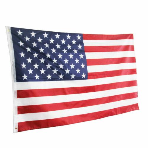 United States Stripes Stars Brass Grommets QE 3/'x 5/' FT American Flag U.S.A U.S