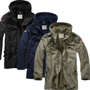 Details about Brandit Flag Bw Parka Men's Jacket Army Bundeswehr Army Germany Flag Army