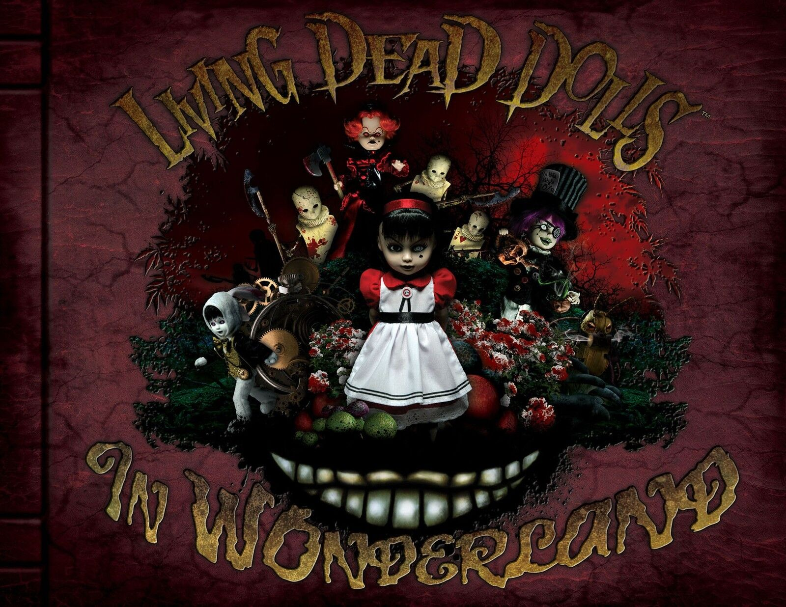 Living Dead Dolls in Wonderland Hardcover Book Limited Edition Libro Mezco Rare