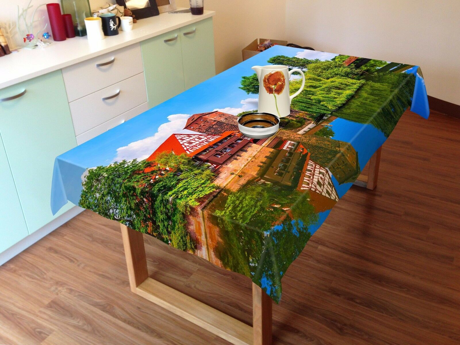 3D Town 4807 Tablecloth Table Cover Cloth Birthday Party Event AJ WALLPAPER AU