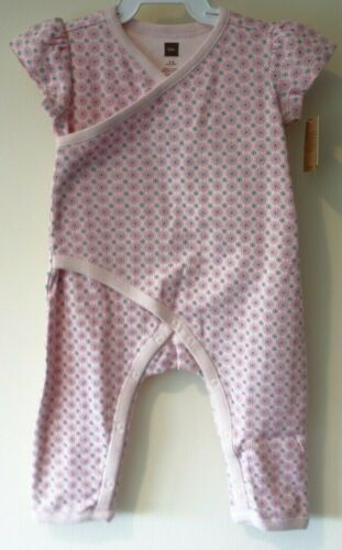 New Tea Collection Rose Petal Lorna Wrap Romper Girl/'s Size 6-9 Month