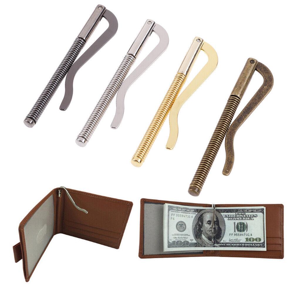 1Pc Metal bifold money clip bar wallet replace parts spring clamp cash h CRA OS