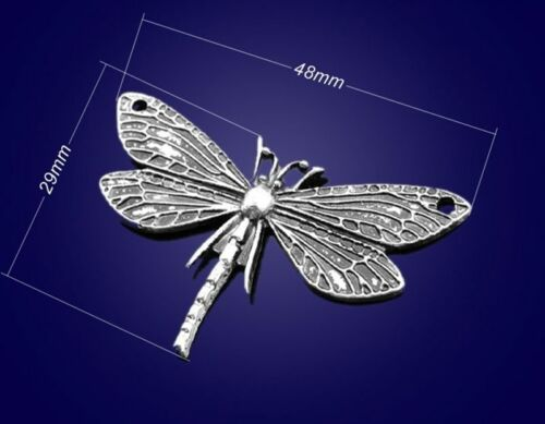 dragonfly pendant Bead Charms Accessories wholesale PJ1553 5PC Tibetan silver