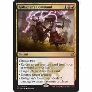 Quantity of 1 Dragons of Tarkir RARE Kolaghan/'s Command MTG NEW!