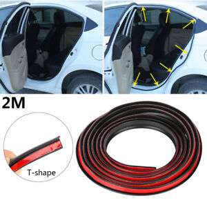 Car-Door-Rubber-Sealing-Strip-Slanted-T-Type-Auto-Weatherstrip-Edge-Sealant-New
