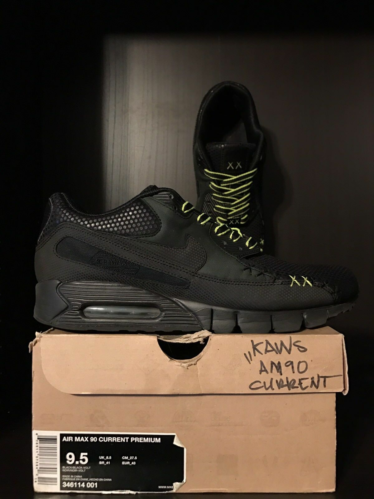 2018 Kaws x Nike Air Max 90 Current Premium  - Size 9.5 - RARE!!