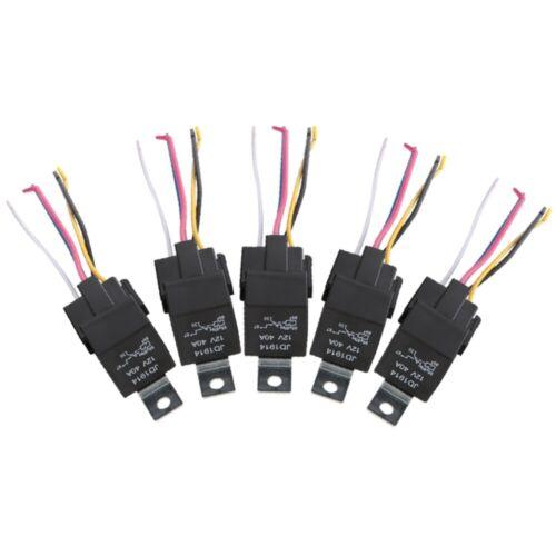 5x Auto 12V 40A SPDT 5 Pin Relais Schalter Arbeitsrelais SPDT-Kfz-Relais DHL