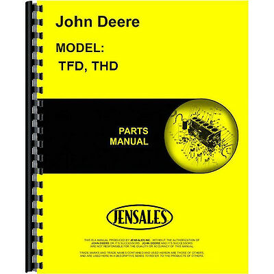 Engine Parts Manual For John Deere THD (Wisconsin)