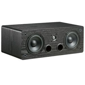 "TDX Dual 4"" 2-Way Bookshelf Center Channel Loud Speaker Bass Reflex Audio Black"