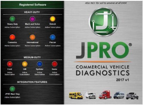 Noregon JPRO Commercial Fleet Diagnostics 2017v1+Activator