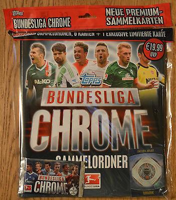 8 Booster Sammelmappe OVP 2013 2014 TOPPS Bundesliga Chrome 13//14 Starterpack