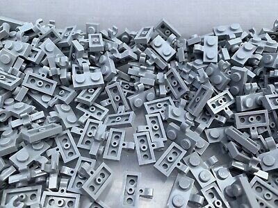Lego 10x Platte 1x2 Clip Horizontal Hell Grau Light Gray Plate 63868 Neu New