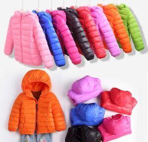 Kids-Girls-Boy-Winter-Warm-Snowsuit-Cotton-Down-Jacket-Hooded-Short-Coat-Outwear