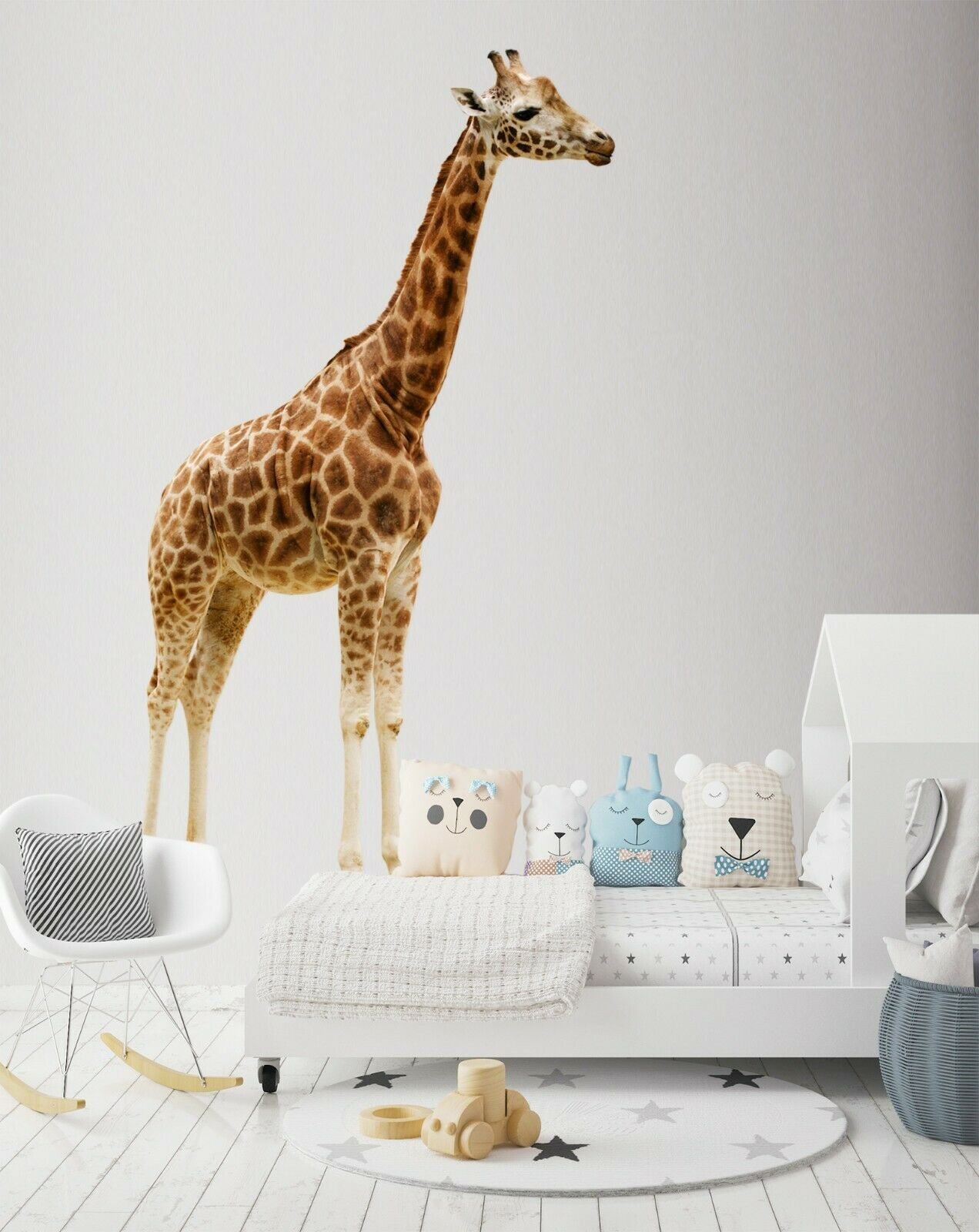 3D Handsome Giraffe B54 Animal Wallpaper Mural Poster Wall Stickers Decal Wendy