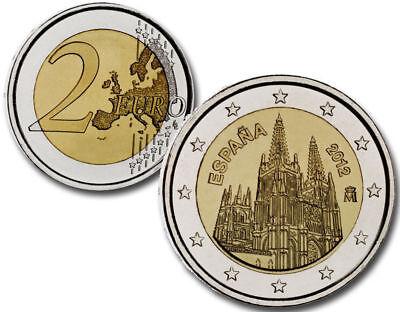 """Spain 2 euro 2012 /""""Burgos Cathedral/"""" BiMetallic UNC"""