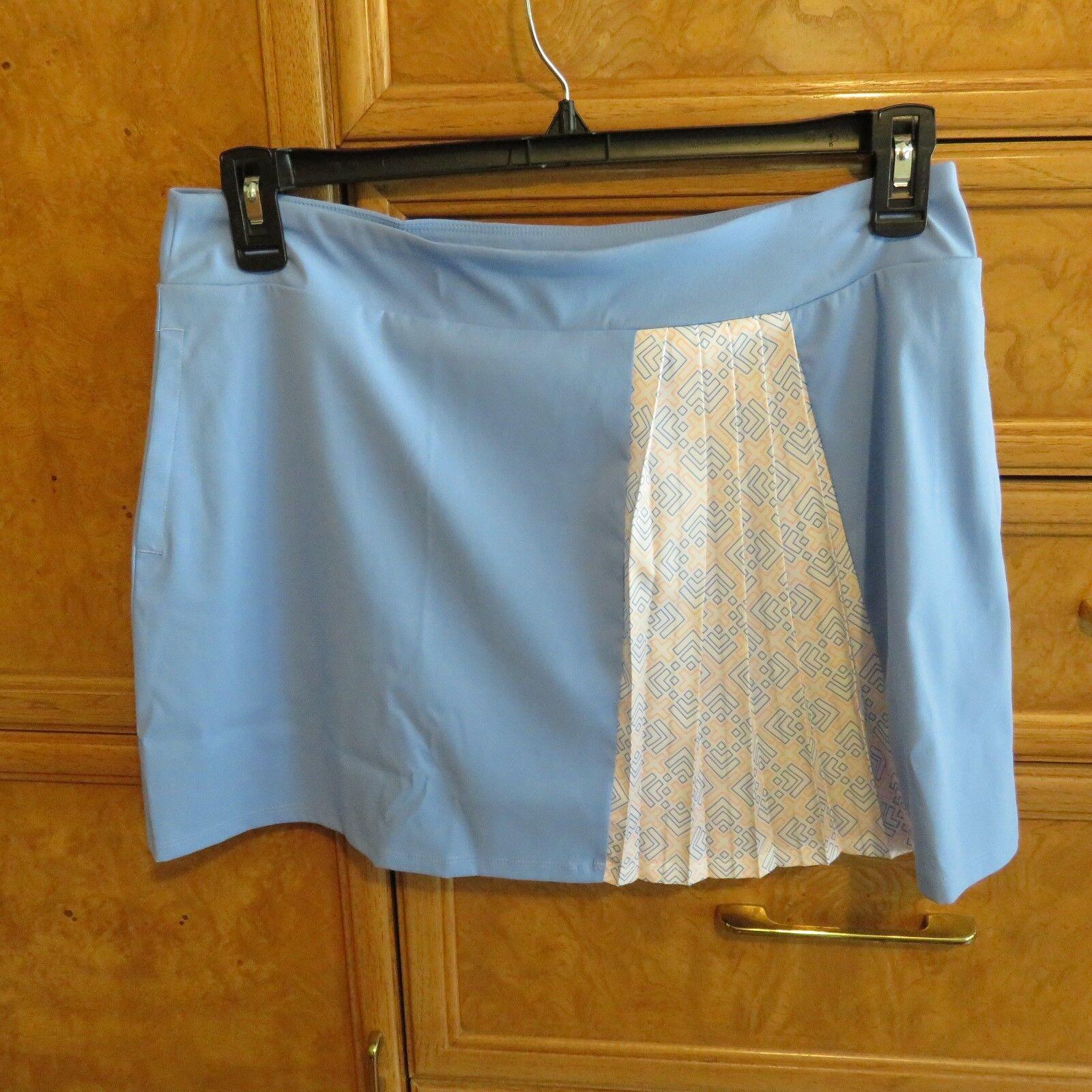 Damen Adidas Golf Skort / Rock blau / weiß / orange Größe M nagelneu NWT $ 75
