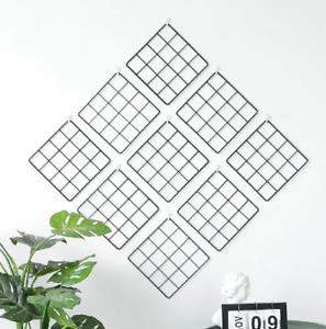 Multi-Function-Metal-Mesh-Grid-Panel-Photo-Wall-Decor-Hook-Art-Display-Shelf