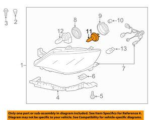 subaru oem 04 15 forester headlight headlamp bulb. Black Bedroom Furniture Sets. Home Design Ideas