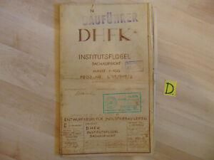 1955 Aufstrebend Dhfk Institutsflügel Dachaufsicht Masst.:1:100 Proj.-nr L 55/515/2
