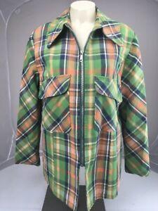 Plaid 15 Vtg Debbie Vandafvisende 60s Green 16 Permanent Leigh Jacket Tryk ZZgAqxIz