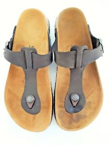 Details about Birkenstock Chocolate Suede Gizeh Birko Flor 40 EU 9.5 US Thongs Sandals Betula
