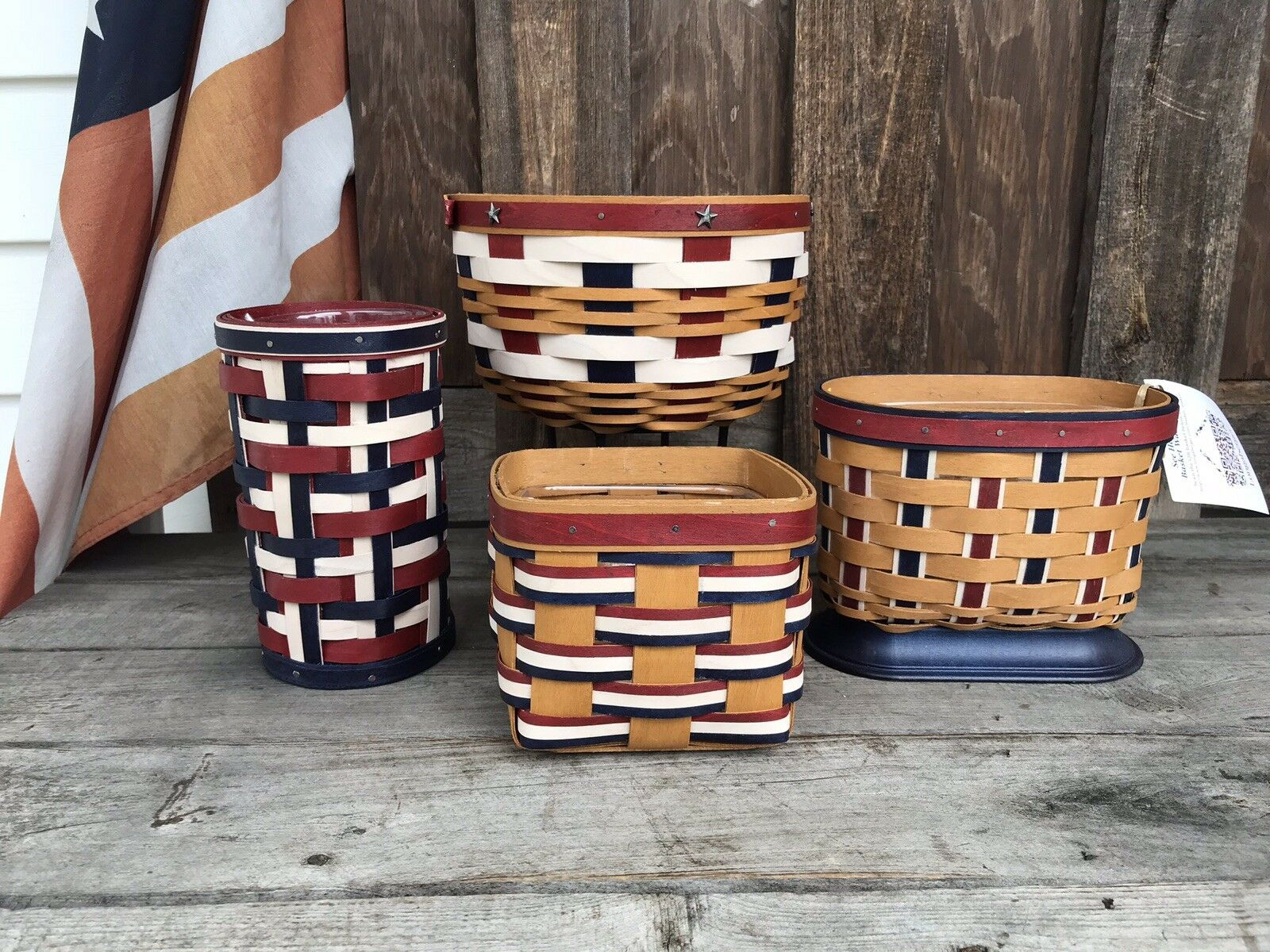 Longaberger American Series Pride, SpiriT, Tradition,  Stars Stripes Forever