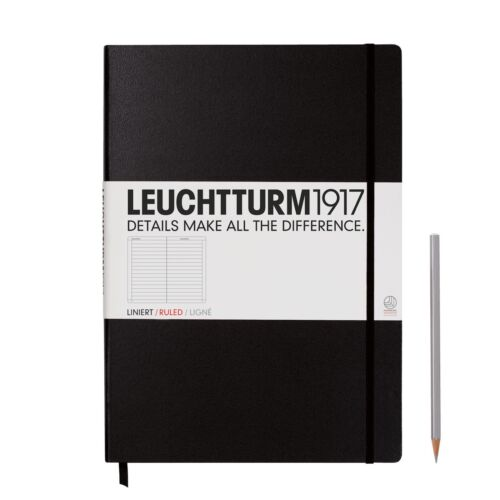 3 colours with various page styles LEUCHTTURM 1917 MASTER A4 NOTEBOOK