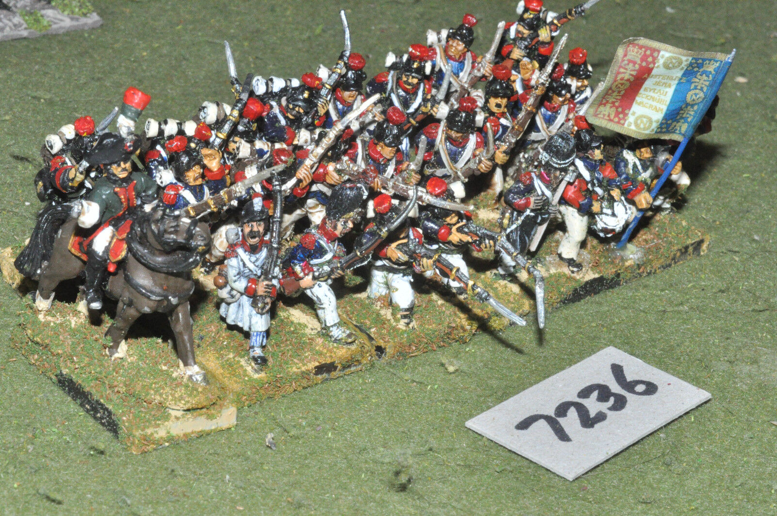 25mm napoleonic   french - revolutionary wars inf 25 figs metal - inf (7236)