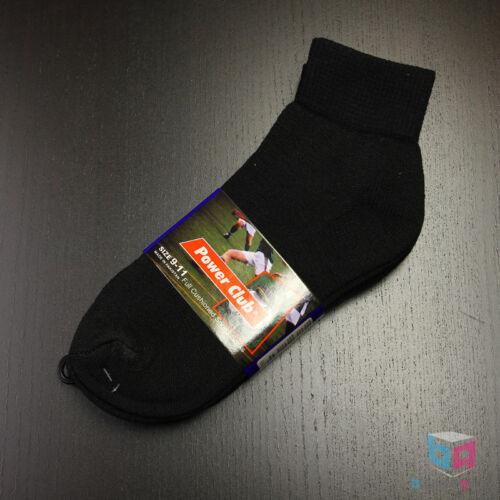 4 Pairs MEN/'S Black//White Cotton Low-Cut Ankle Socks Sizes 9-11 10-13