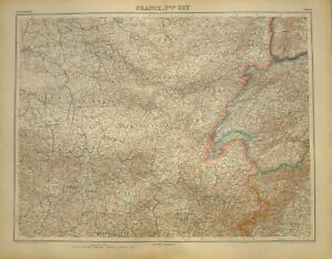 Map Of France Jura.Details About 1923 Map Western France Eastern France Jura Haute Savoie Lyon Rhone