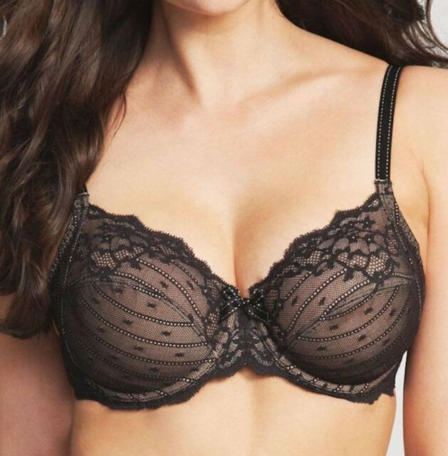 955189fb8 BRAND NEW TAG Chantelle Rive Gauche 3Part Bra Full CUP 3281 Black nude Lace  32D