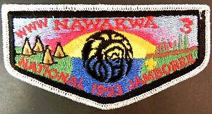 NAWAKWA-OA-LODGE-3-ROBERT-E-LEE-COUNCIL-PATCH-1993-SCOUT-JAMBOREE-DELEGATE-FLAP