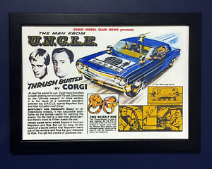 Corgi-Toys-497-The-Man-From-Uncle-1966-Framed-A4-Size-Poster-Leaflet-Sign-Advert
