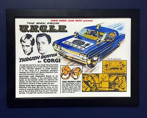 Corgi Toys 497 el hombre del tío 1966 A4 tamaño póster enmarcado FOLLETO cartel anuncio