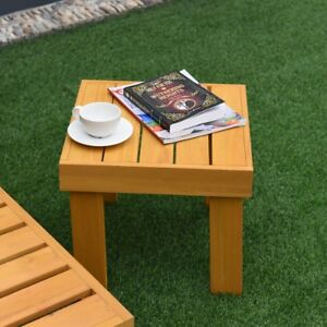 In-Outdoor-Patio-Mini-Size-Wood-Square-End-Side-Accent-Table-Furniture-New