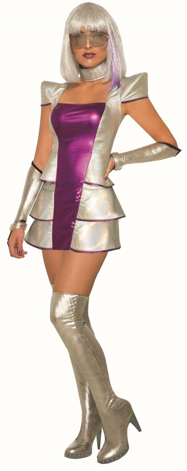 Pluto's Princess Cosmic Space Force Alien Costume Size MD/LG