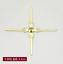 500PCS  chandelier lamp parts crystal bead metal connector bowtie Cross buckle