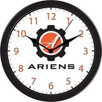 Ariens Lawn Mower Farm Tractor Wall Clock Black Trim Accessory Art Red Part Gift