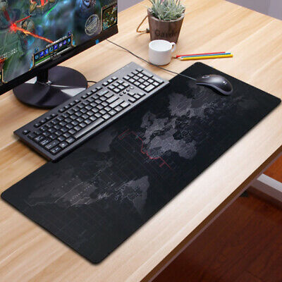 Portable Large Desk Pad World Map Large Area for Keyboard and Mouse Non Slip Water Resistant Rubber Base Extended XXL Gaming Mouse Pad Gaming Mouse Pad Keyboard Pad