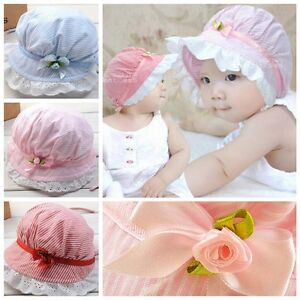 f7c834b07d3 Image is loading Toddler-Infant-Baby-Girls-Outdoor-Bucket-Hats-Summer-