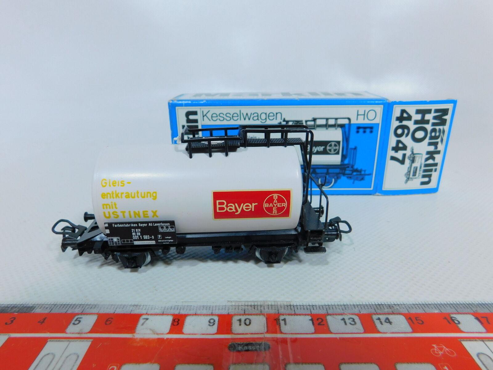 BZ681-0, 5  Märklin H0 AC 4647.1 Tank Cars Bayer ustinex DB Very Well, OVP